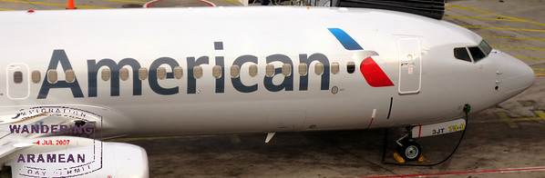 Up close and personal with the new American Airlines livery