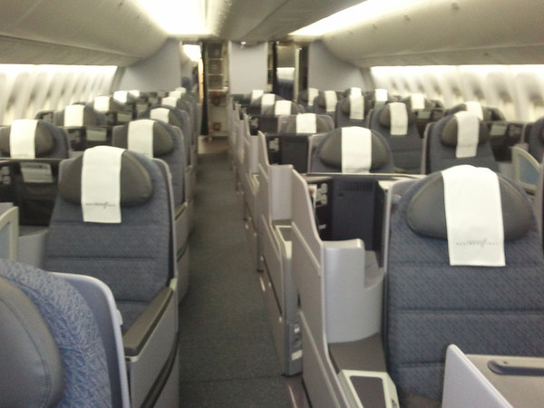 First peek inside the new Continental 767 BusinessFirst cabin